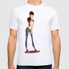 Gary Mens Fitted Tee Ash Grey SMALL