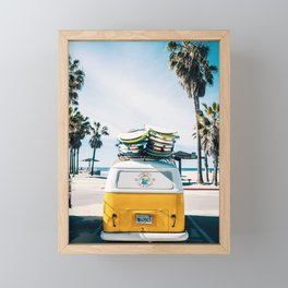 Surfing van Framed Mini Art Print