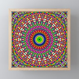 Vibrant Flower Garden Mandala Framed Mini Art Print