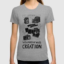 Weapons Of Mass Creation - Photography (blockprint) T-shirt