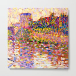 Georges Seurat Seine at Courbevoie Metal Print