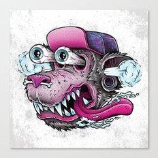 Wolf Dude Canvas Print