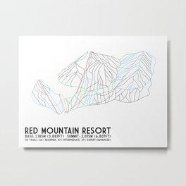 Red Mountain Resort, BC, Canada - Minimalist Trail Art Metal Print