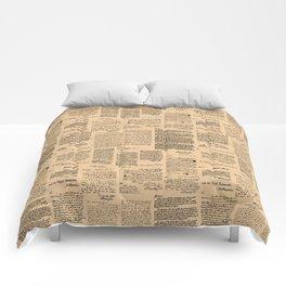 George Washington's Letters // Dark Paper Comforters