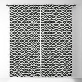Black & White Tribal Pattern Blackout Curtain