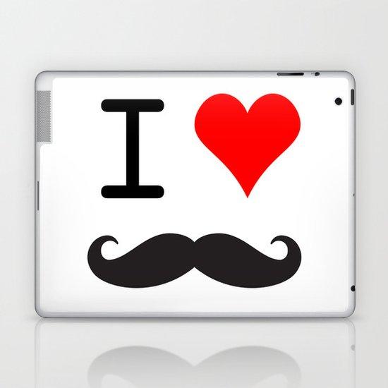 I Love Mustache Laptop & iPad Skin