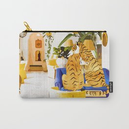 Tiger Reserve #painting #illustration #tigers #wildlife Carry-All Pouch