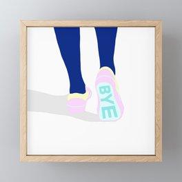 BYE Framed Mini Art Print