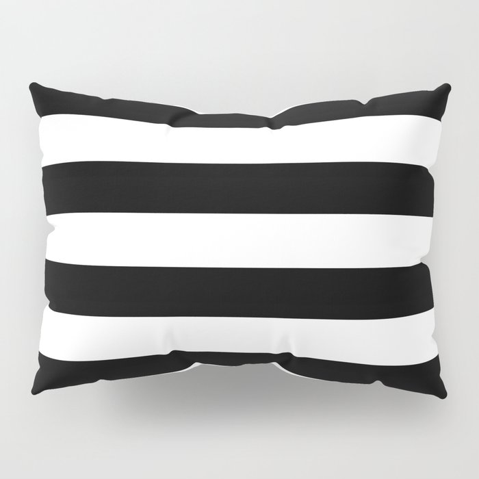 Stripe Black & White Horizontal Pillow Sham