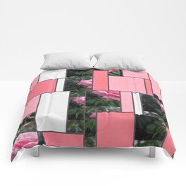 Pink Roses in Anzures 6 Art Rectangles 9 Comforters