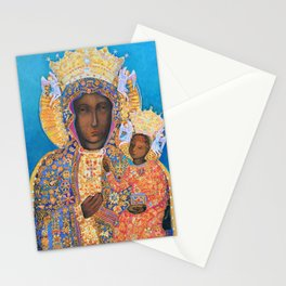 Black Madonna Poland Our Lady of Czestochowa Virgin Mary Christmas Gift Religion Stationery Cards