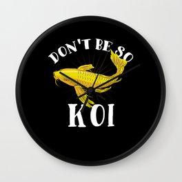 Japanese Koi Fish T-Shirt nishikigoi carp Wall Clock