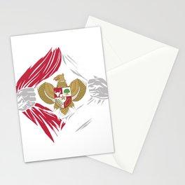 Indonesia Emblem Stationery Cards