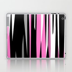 Pink White Gray and Black abstract Laptop & iPad Skin