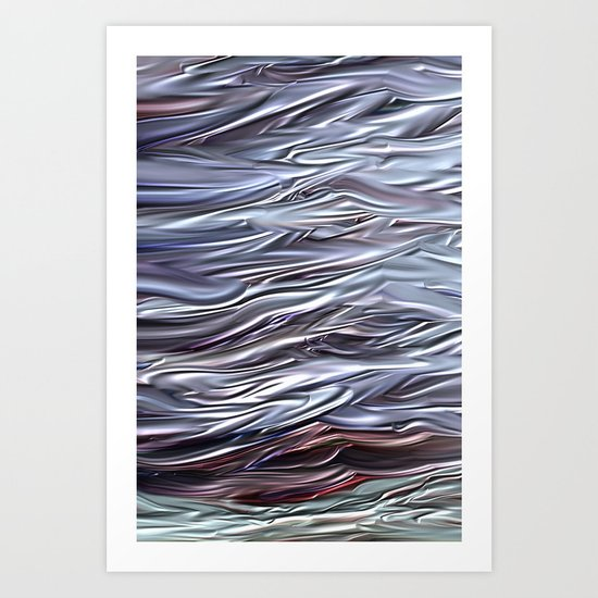 White sea Art Print
