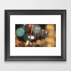 Hanukkah candles Framed Art Print