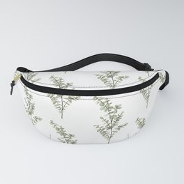 Baby Blue Eucalyptus Watercolor Painting Fanny Pack