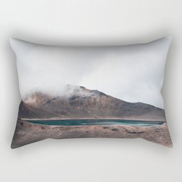 Volcanic Crater Turned Into A Lake Rectangular Pillow