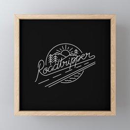 Roadtripper - white Framed Mini Art Print