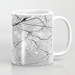 New York City White Map Coffee Mug