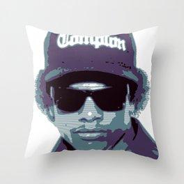 Easy E portrait N.W.A. Throw Pillow