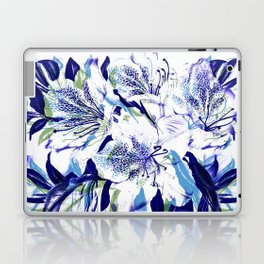 Royal Blue Floral Abstract Laptop & iPad Skin