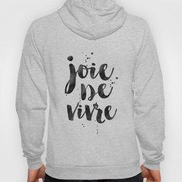 JOIE DE VIVRE, French Decor,French Quote,Dorm Room Decor,Home Decor,Modern Art,Girls Printable,Girls Hoody