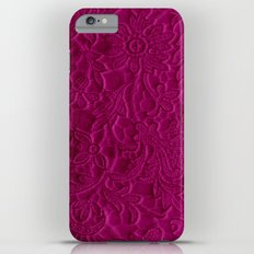 satiny flower in fushia iPhone 6s Plus Slim Case