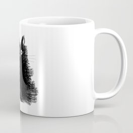 Duster - Black Cat Drawing Coffee Mug