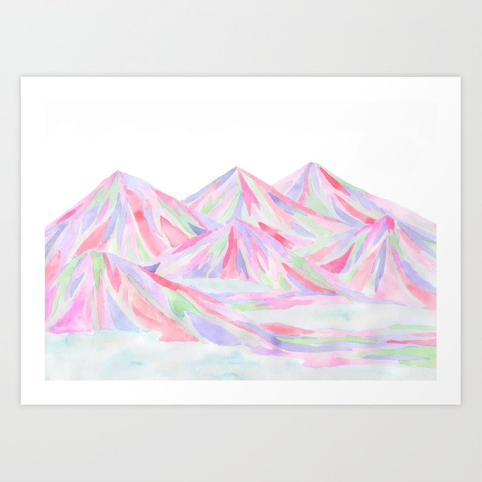 Colorful Landscape Art Print