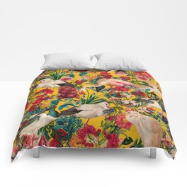 FLORAL AND BIRDS XVIII Comforters