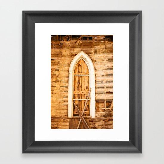 Church Window Framed Art Print