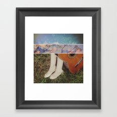 A Touch so Foreign Framed Art Print