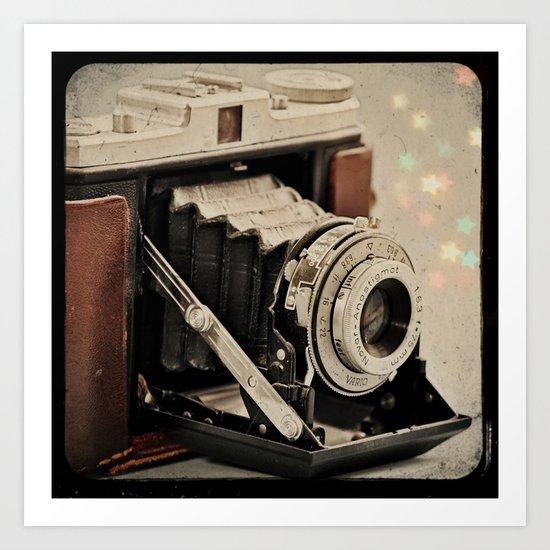 Vintage Camera Magic Art Print