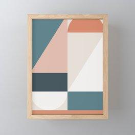 Cirque 01 Abstract Geometric Framed Mini Art Print