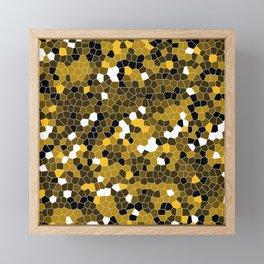 Amber Yellow Polycamo Framed Mini Art Print