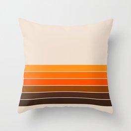 Golden Spring Stripes Throw Pillow