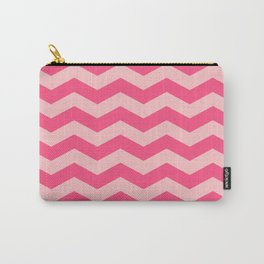 Pink zig zag pattern simple vector Carry-All Pouch