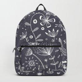 Chalkboard Flowers Backpack
