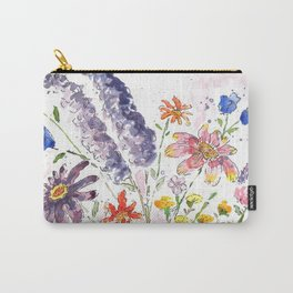 Cotton Candy Floral Carry-All Pouch