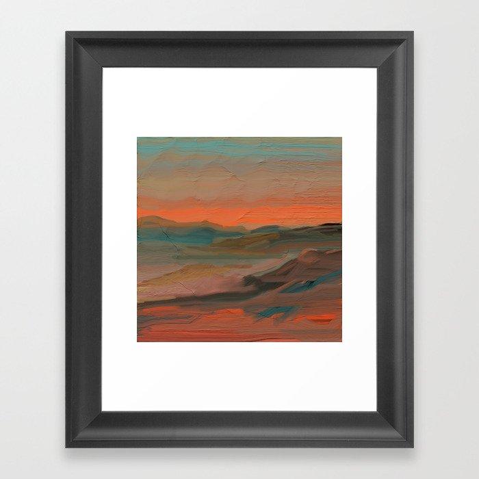 Southwestern Sunset Gerahmter Kunstdruck
