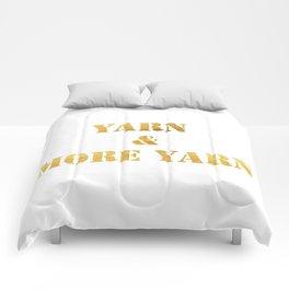 Yarn & More Yarn in Gold Comforters