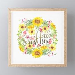Hello Sunshine Framed Mini Art Print
