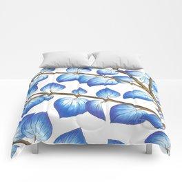 Breezy Blue Leaves Comforters