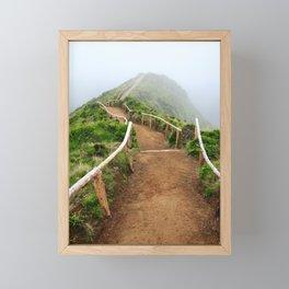 Empty walking trail Framed Mini Art Print