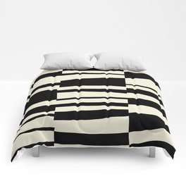 BW Oddities II - Black and White Mid Century Modern Geometric Abstract Comforters