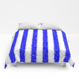 Blue Striped Comforters