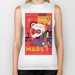 NASA Retro Space Travel Poster #9 Mars Biker Tank