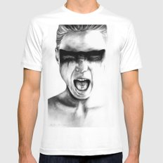 The Grind White MEDIUM Mens Fitted Tee