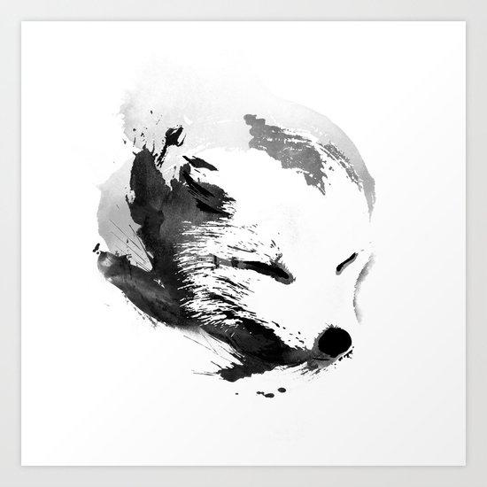 White Fox Art Print